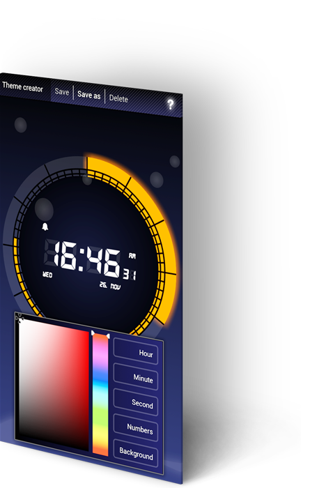 Soft alarm clock - kreator tema