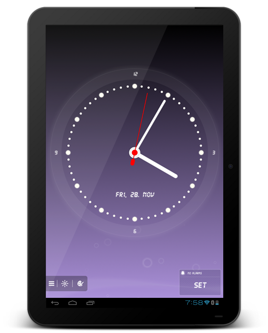 soft alarm clock tablet